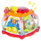 Deluxe Baby Musical Activity Cube Play Center w/ Lights, Many Functions & Skills