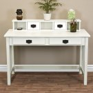 New Writing Desk Mission White Home Office Computer Desk Solid Wood Construction
