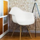 Eames Style Armchair Mid Century Modern Molded Plastic Shell Arm Chair
