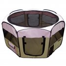 "Pet Playpen 45"" Exercise Puppy Dog Pen Kennel Folding Design Easy Storage Pink"