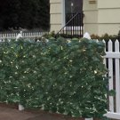 "Faux Ivy Privacy Fence Screen 94"" X 39"" Artificial Hedge Fencing Outdoor Decor"
