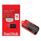 SanDisk Cruzer 16GB Switch USB 2.0 Flash Thumb Drive SDCZ52-016-B35 Memory Disk