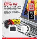 SanDisk 64GB CZ43 64 G Cruzer Ultra Fit USB 3.0 Nano Flash Pen Drive SDCZ43-064G