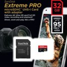 SanDisk 32GB Extreme PRO microSD micro SDHC SD Card 95MB/s Class 10 UHS-1 U3