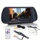 """7"""""""" LCD Screen Car Rear View Backup Parking Mirror Monitor + Camera Night Vision"""