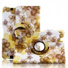 Rotating Lucky Flowers Leather Case Cover Stand Amazon Kindle Fire HD 7 2013