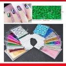 25 Pcs Nail Art Stickers Nail Transfer Foil Decals Foils Polish Adhesive Wraps