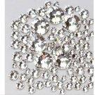1440 Pcs Crystal Clear Rhinestone Nail Art Flatback Non Hotfix Nail Jewelry Accessories
