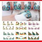 Nail Art Sticker Feather Butterfly Transfer DIY French Stylish Nail Tip Wraps