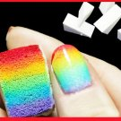 16 Pcs Nail Art Tools Gradient Nails Soft Sponges for Color Fade Manicure