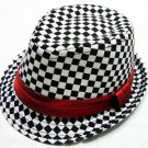 Chidren's Plaid Boys Fedoras baby cap dicer top fedora hat #2