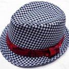Chidren's Plaid Boys Fedoras baby cap dicer top fedora hat #3