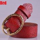 Women's Vintage Belt Leather Belt Red