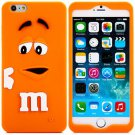 3D Cartoon M Chocolate Bean Pattern Silicone Case Cover for iPhone 6 - 4.7 inches(NR3)