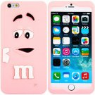 3D Cartoon M Chocolate Bean Pattern Silicone Case Cover for iPhone 6 - 4.7 inches(NR4)