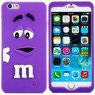 3D Cartoon M Chocolate Bean Pattern Silicone Case Cover for iPhone 6 - 4.7 inches(NR10)