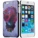 Skull Flower Pattern Style Plastic Protective Case Cover for iPhone 6 Plus - 5.5 inches
