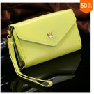 Pouch Wallet PU Leather Case for iphone 5 5S 5C 4 4s, for Samsung Galaxy S3 S4 S5  ( color 2