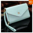 Pouch Wallet PU Leather Case for iphone 5 5S 5C 4 4s, for Samsung Galaxy S3 S4 S5  ( color 4