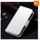 Photo Frame Flip PU Leather Cover Case For Iphone 4 / 4S  (COLOR 3