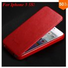 Luxury Retro PU Leather Case For iphone 5 5S 5G Flip Crazy Horse Cover ( color 3