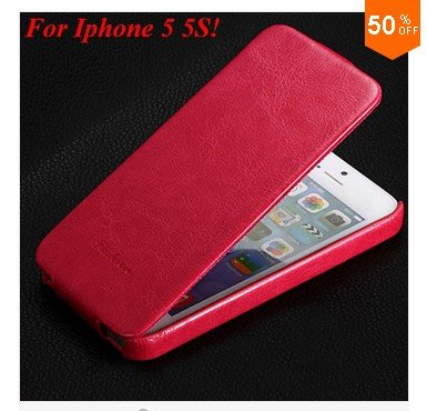 Luxury Retro PU Leather Case For iphone 5 5S 5G Flip Crazy Horse Cover ( color 5