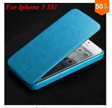 Luxury Retro PU Leather Case For iphone 5 5S 5G Flip Crazy Horse Cover ( color 6