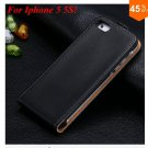 Luxury Genuine Leather Flip Cover Case For Iphone 5 5S 5g  (color 1