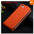 Luxury Genuine Leather Flip Cover Case For Iphone 5 5S 5g  (color 2