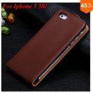 Luxury Genuine Leather Flip Cover Case For Iphone 5 5S 5g  (color 3