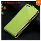 Luxury Genuine Leather Flip Cover Case For Iphone 5 5S 5g  (color 6