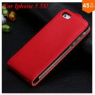 Luxury Genuine Leather Flip Cover Case For Iphone 5 5S 5g  (color 10