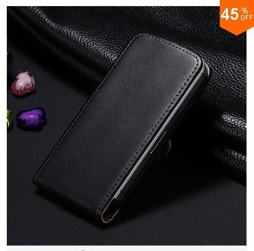 High-End Design Vertical Fip Genuine Leather Case for iPhone 4 4S 4g   (color  6