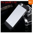 Deluxe Metal+Black TPU Brush Case For Iphone 5 5s 5g  ( color 2