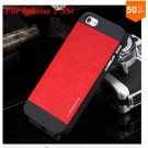 Deluxe Metal+Black TPU Brush Case For Iphone 5 5s 5g  ( color 3