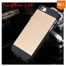 Deluxe Metal+Black TPU Brush Case For Iphone 5 5s 5g  ( color 4