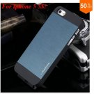 Deluxe Metal+Black TPU Brush Case For Iphone 5 5s 5g  ( color 5