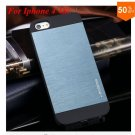 Deluxe Metal+Black TPU Brush Case For Iphone 4 4s 4g  (color 4