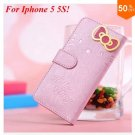 PU Leather Case for iphone 5 5s 5g With Card Slot (color 3