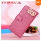 PU Leather Case for iphone 5 5s 5g With Card Slot (color 4