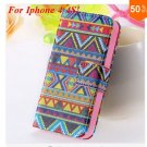 Cute Animal Structure! Flip Wallet Case for iPhone  4 4S 4G   (color  2