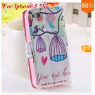 Cute Animal Structure! Flip Wallet Case for iPhone  5 5s 5g   (color 6