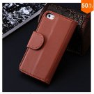 Photo Frame Flip PU Leather Cover Case For Iphone 5C With ID Credit Card Slots ( color 2
