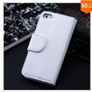 Photo Frame Flip PU Leather Cover Case For Iphone 5C With ID Credit Card Slots ( color 3