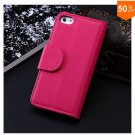 Photo Frame Flip PU Leather Cover Case For Iphone 5C With ID Credit Card Slots ( color 8