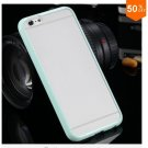 Mat PC + TPU Clear Case For Iphone 6 4.7'' Cover Transparent Back   (color 2