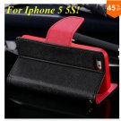 Wallet Book Style Case For Iphone 5 5s 5g ( color 2