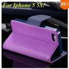 Wallet Book Style Case For Iphone 5 5s 5g ( color 9