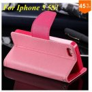 Wallet Book Style Case For Iphone 5 5s 5g ( color 10