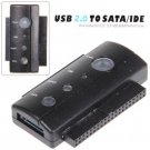 3-IN-1 2.5/3.5/5.25 Inch SATA/IDE to USB2.0 Convertor Kit (Black)